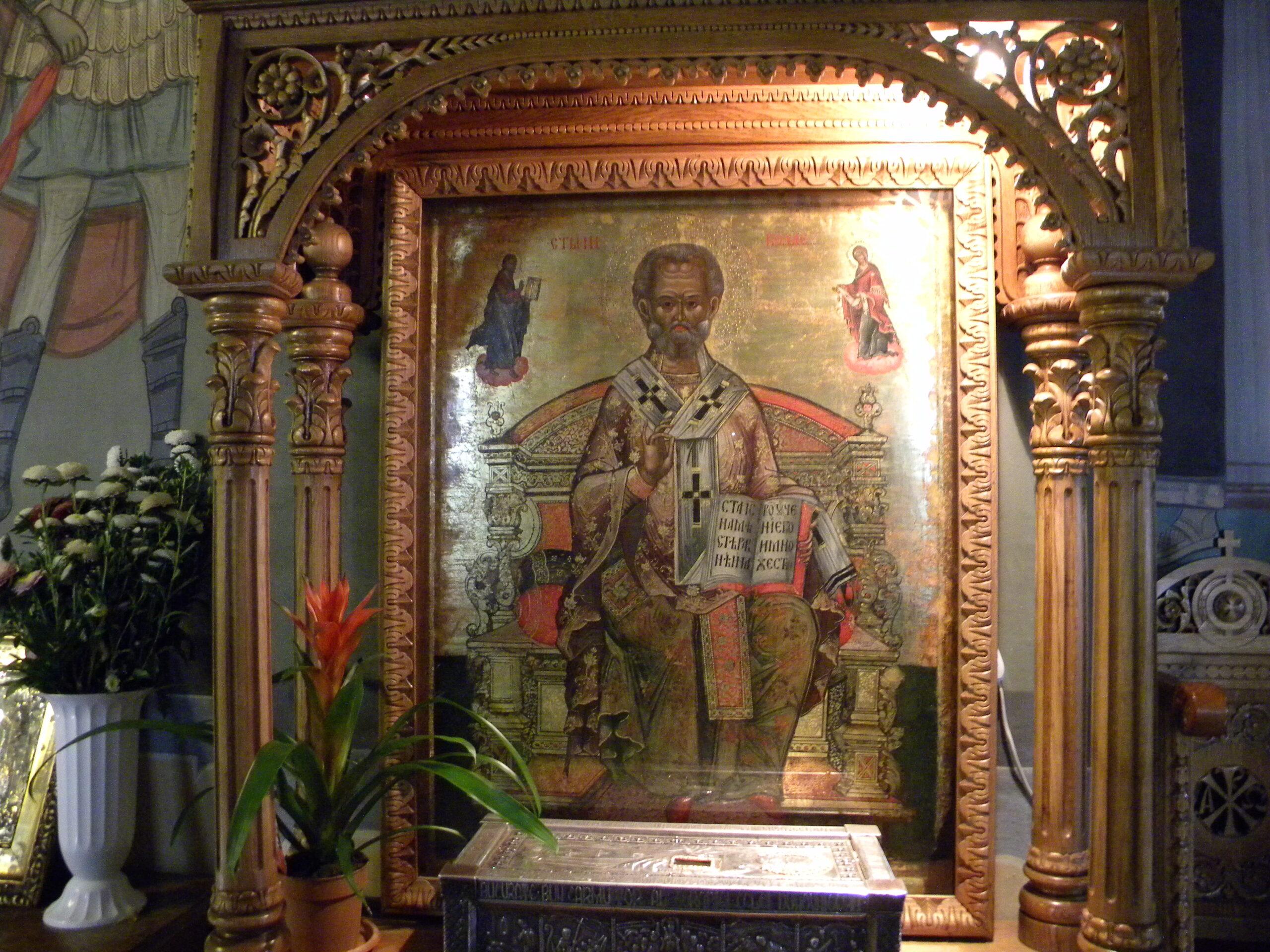 icoana cu Sfantul Ierarh Nicolae
